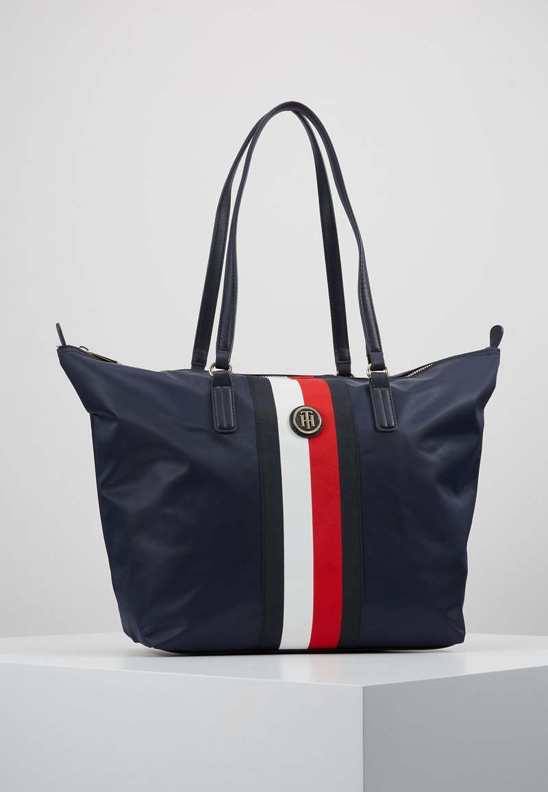 Tommy Hilfiger - POPPY TOTE CORP - Sac à main - blue