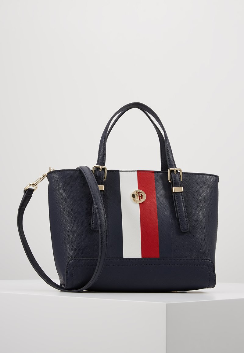 Tommy Hilfiger - HONEY SMALL TOTE CORP - Handtasche - blue