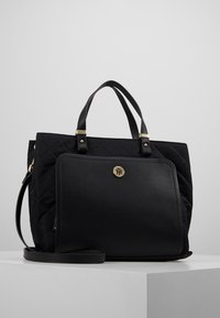Tommy Hilfiger - ELEGANT TOTE QUILTED - Borsa a mano - black - 0