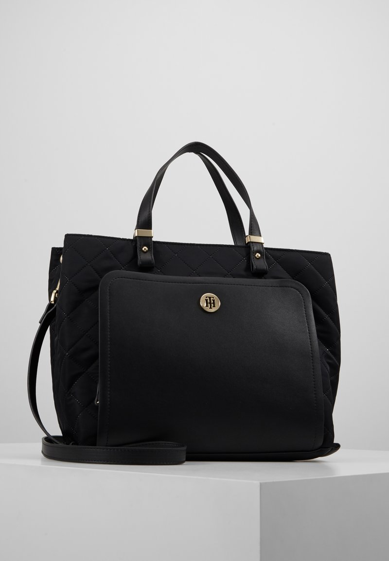 Tommy Hilfiger - ELEGANT TOTE QUILTED - Borsa a mano - black