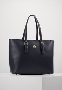 Tommy Hilfiger - CLASSIC SAFFIANO TOTE - Kabelka - blue - 0
