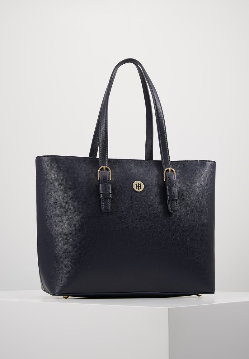 Tommy Hilfiger - CLASSIC SAFFIANO TOTE - Kabelka - blue