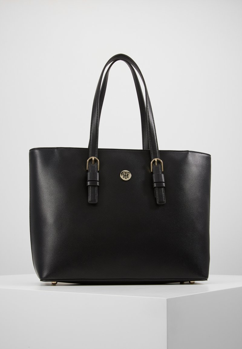 Tommy Hilfiger - CLASSIC SAFFIANO TOTE - Handtasche - black