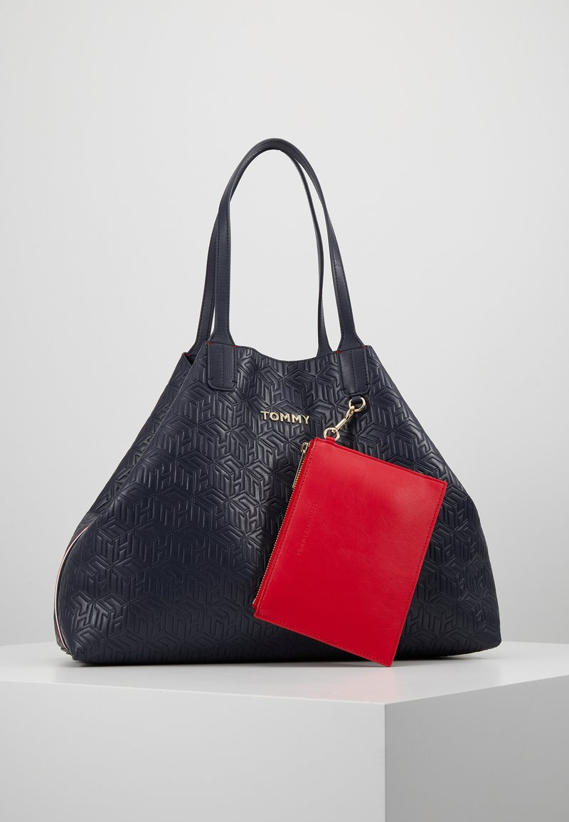 Tommy Hilfiger - ICONIC TOTE - Tote bag - blue