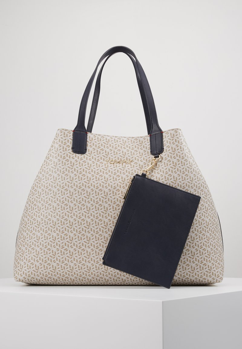 Tommy Hilfiger - ICONIC TOTE MONOGRAM - Shopping Bag - beige