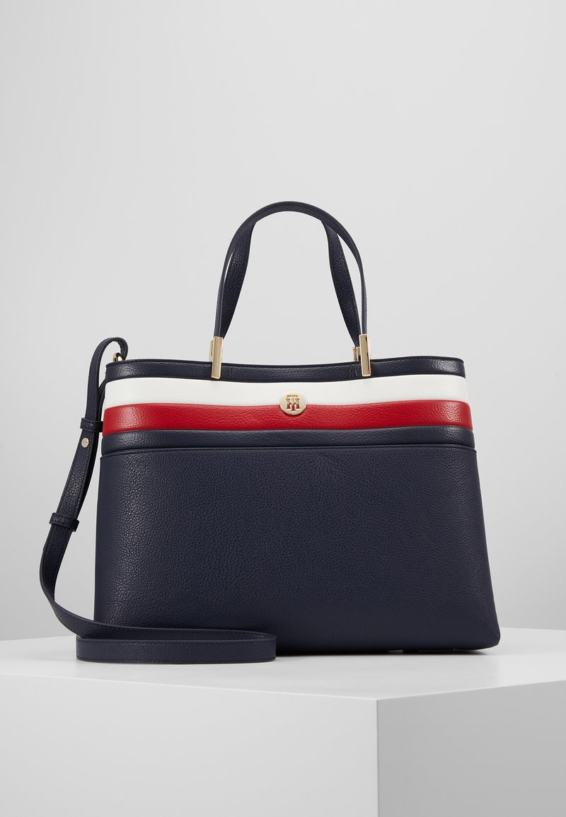 Tommy Hilfiger - CORE SATCHEL CORP - Handbag - blue