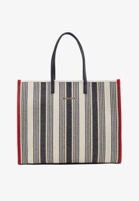 Tommy Hilfiger - BEACH BAG STRIPE - Shopping bag - white