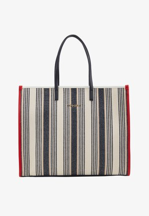 BEACH BAG STRIPE - Cabas - white