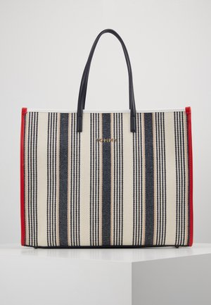 BEACH BAG STRIPE - Shopping Bag - white