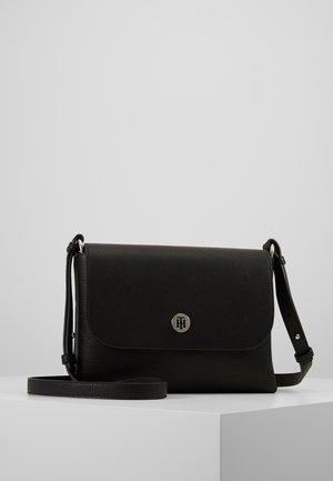 CORE FLAP - Taška spříčným popruhem - black