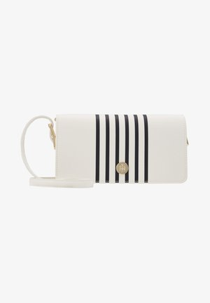 HONEY FLAP CROSSOVER STRIPE - Skulderveske - white