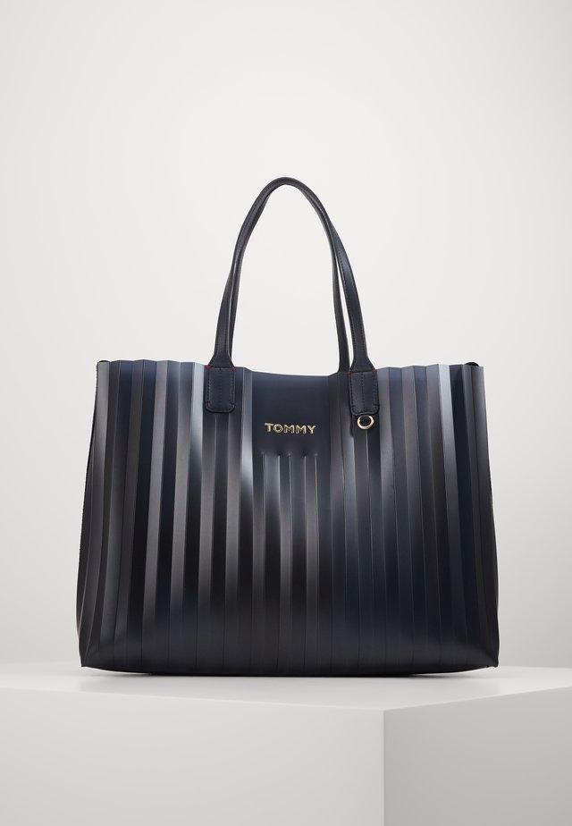ICONIC TOTE PLISSE - Shopper - blue