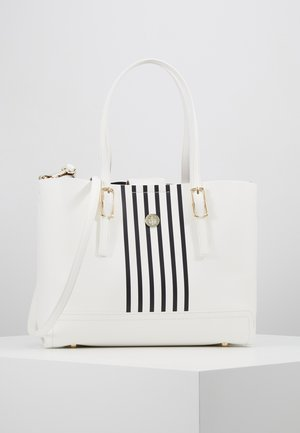 HONEY MED TOTE STRIPE SET - Bolso de mano - white