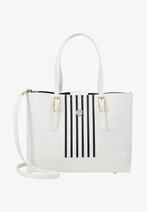 HONEY MED TOTE STRIPE SET - Handtasche - white
