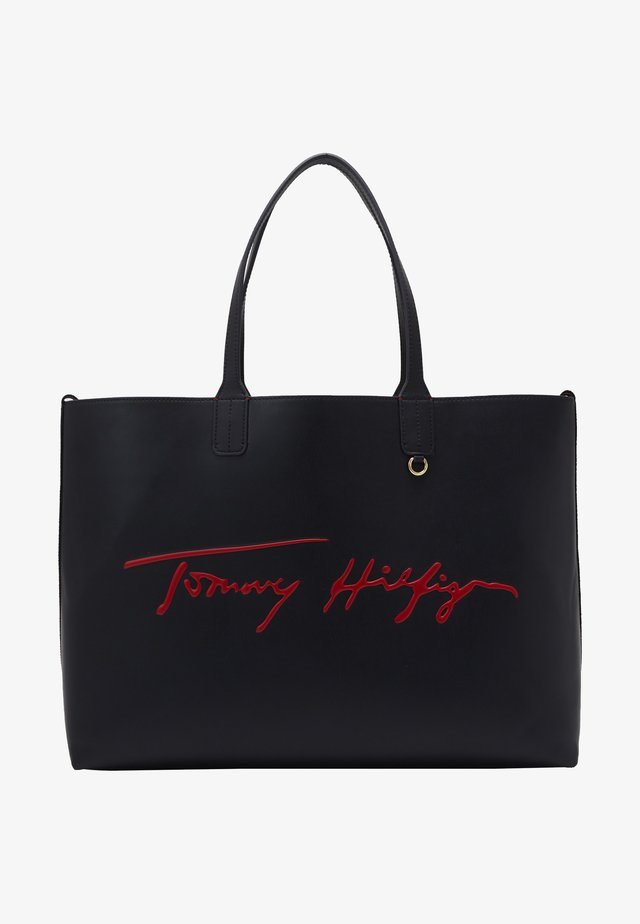 ICONIC TOMMY TOTE SIGNATURE - Shopping bag - blue