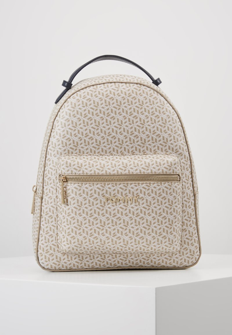 Tommy Hilfiger - ICONIC BACKPACK MONOGRAM - Reppu - beige
