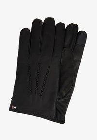 Tommy Hilfiger - FLAG GLOVES - Gloves - black - 0