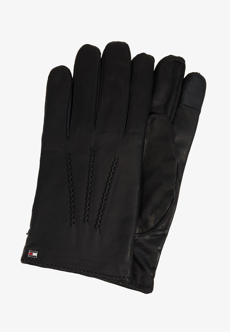 Tommy Hilfiger - FLAG GLOVES - Gloves - black