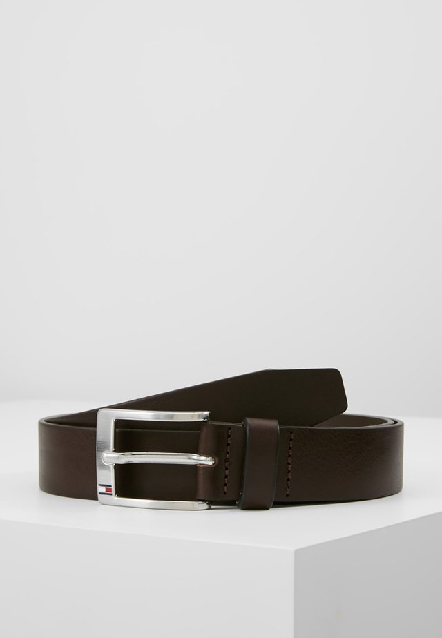 NEW ALY BELT - Belt business - testa di moro