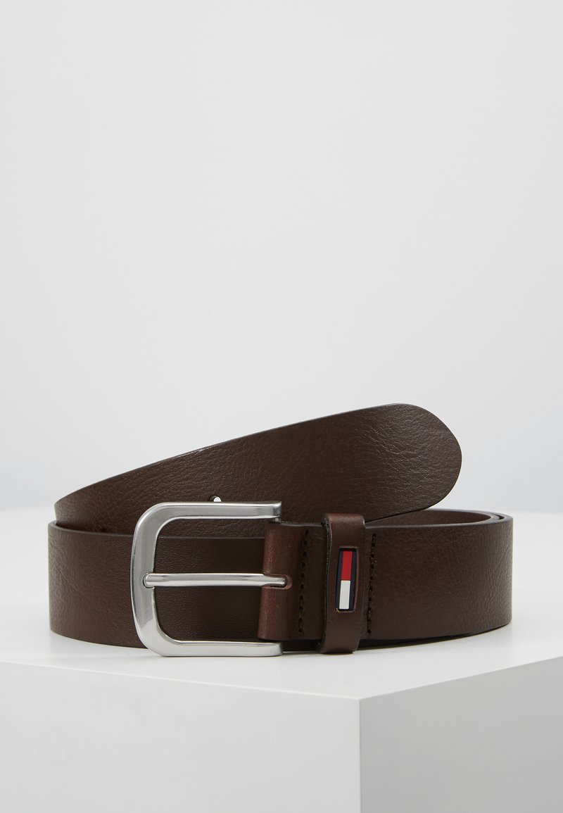 Tommy Jeans - CLASSIC FLAG BELT - Riem - dark brown