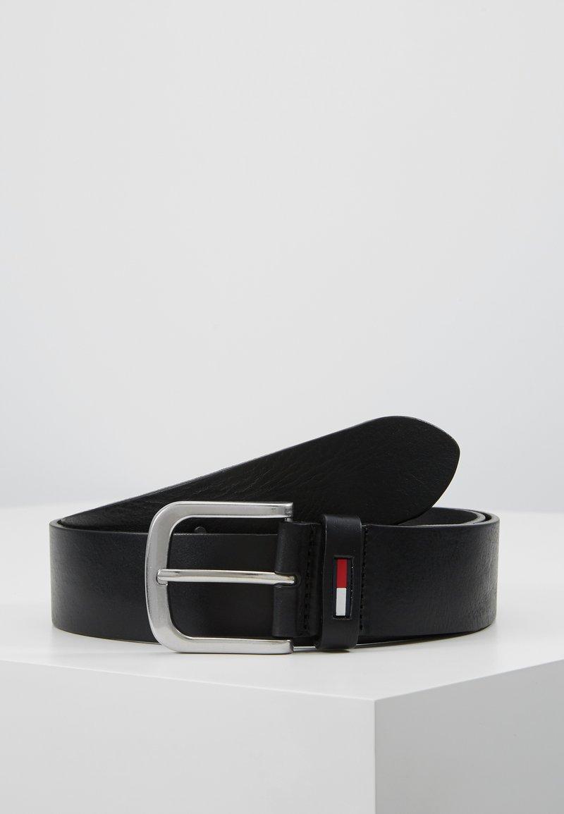 Tommy Jeans - CLASSIC FLAG BELT - Cinturón - black