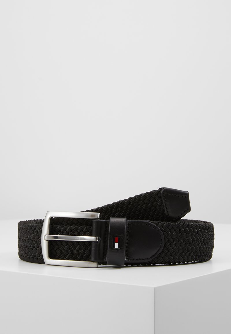 Tommy Hilfiger - DENTON  - Braided belt - black