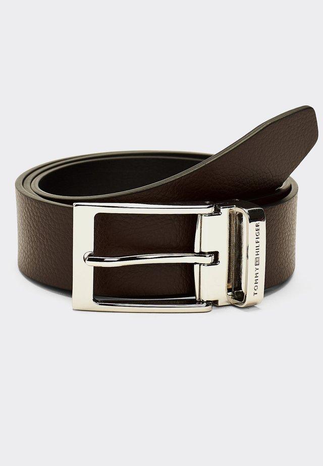 LAYTON TRAVEL - Belt - testa di moro/black
