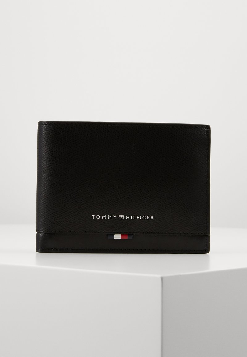 Tommy Hilfiger - BUSINESS LEATHER EXTRA COIN - Portemonnee - black