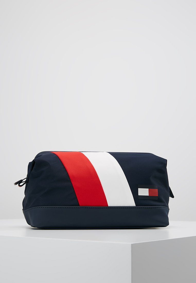 Tommy Hilfiger - HEVRON FRAMED WASHBAG - Trousse de toilette - blue