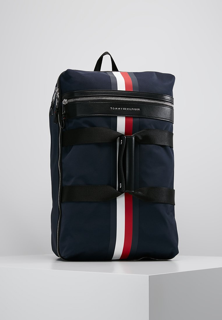 Tommy Hilfiger - ELEVATED DUFFLE STRIPE - Torba weekendowa - blue