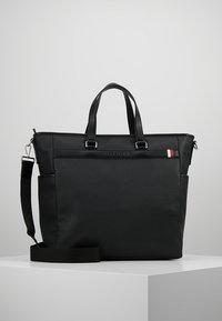 Tommy Hilfiger - COATED TOTE - Tote bag - black - 0
