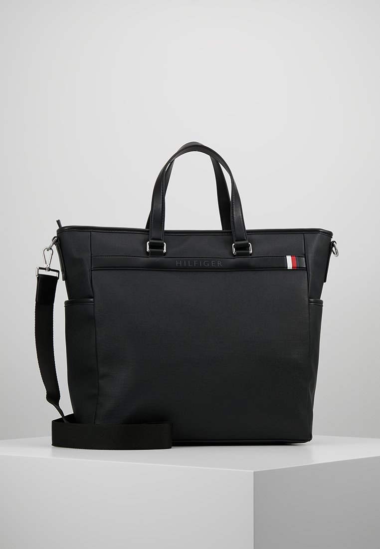 Tommy Hilfiger - COATED TOTE - Shopping Bag - black
