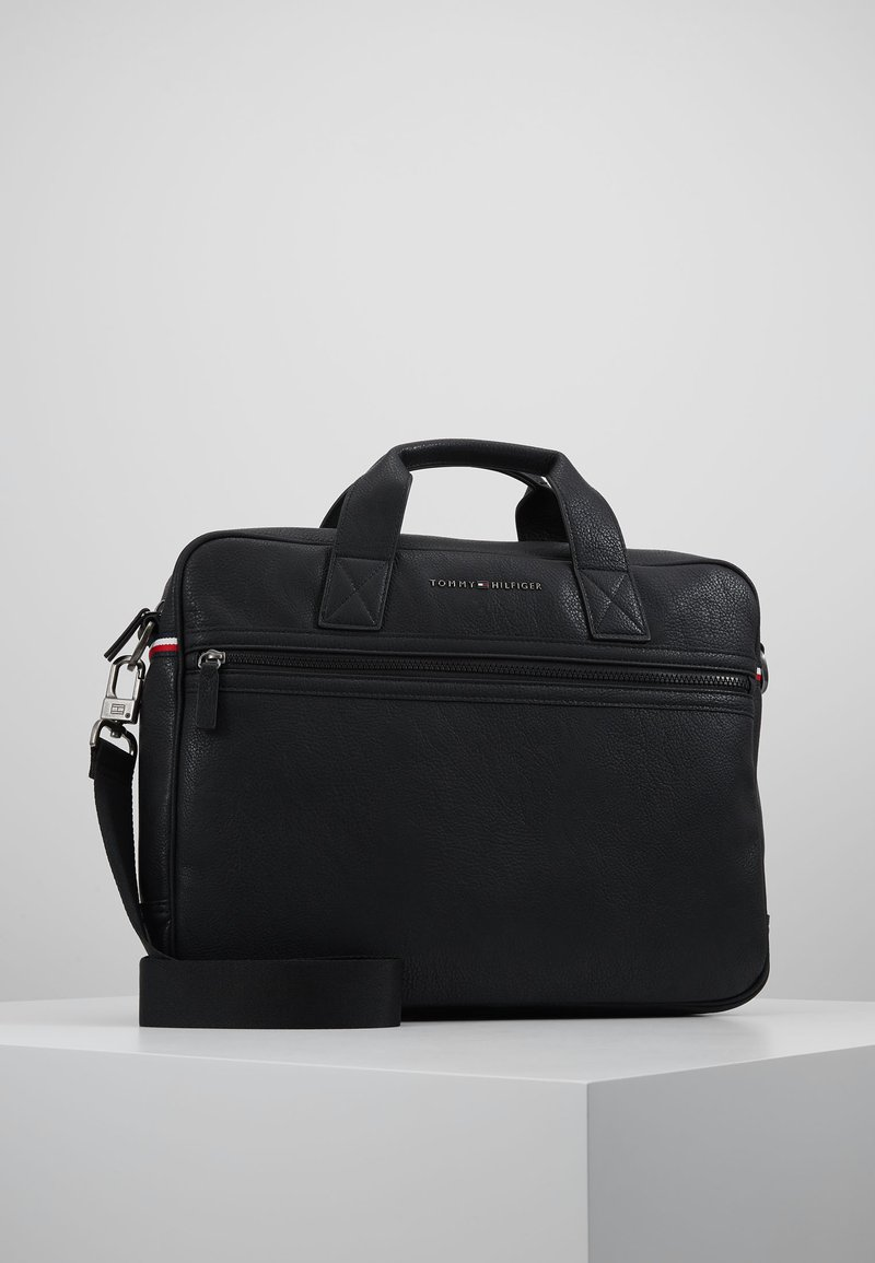 Tommy Hilfiger - ESSENTIAL COMPUTER BAG - Aktovka - black