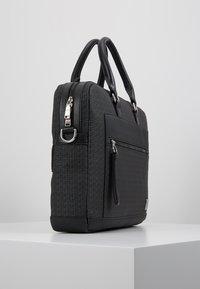 Tommy Hilfiger - COATED COMPUTER BAG - Briefcase - black - 3