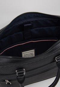 Tommy Hilfiger - COATED COMPUTER BAG - Briefcase - black - 4