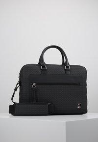 Tommy Hilfiger - COATED COMPUTER BAG - Briefcase - black - 0