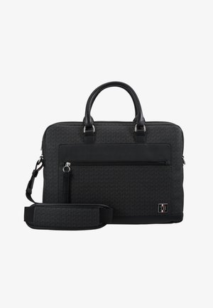 COATED COMPUTER BAG - Aktentasche - black