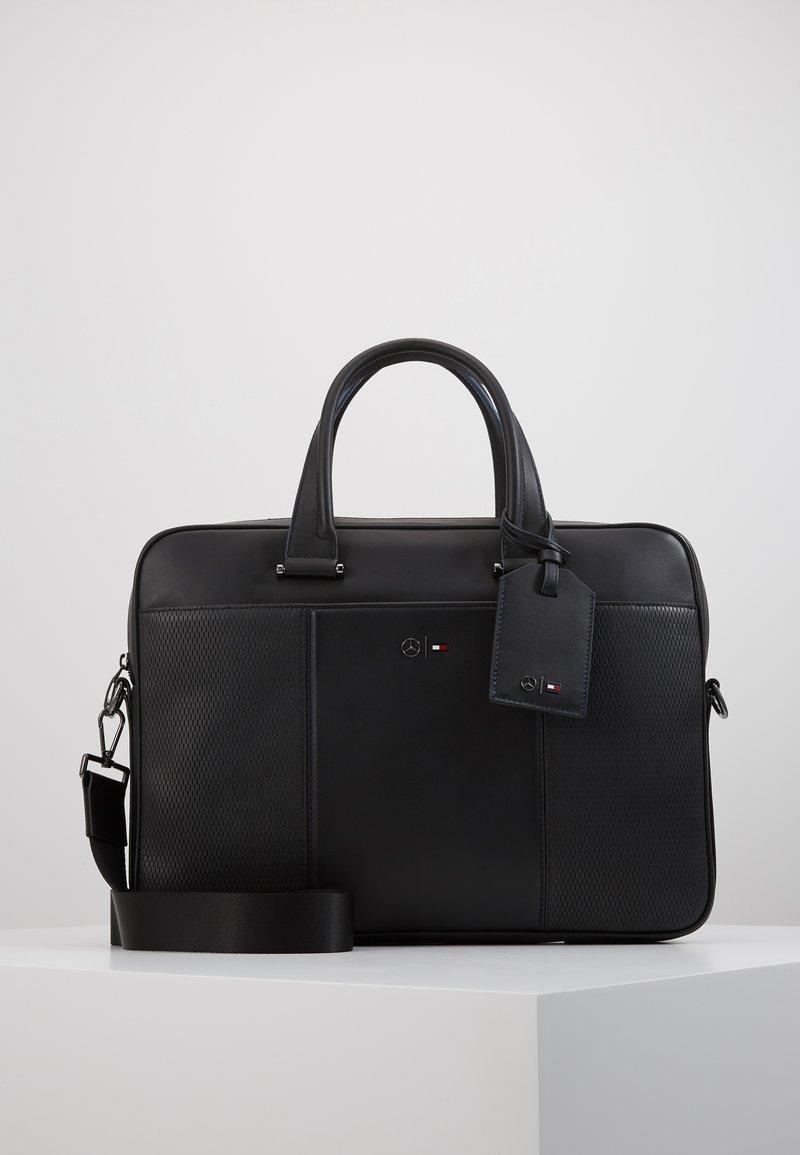 Tommy Hilfiger - TOMMYXMERCEDES-BENZ COMPUTER BAG - Laptop bag - black