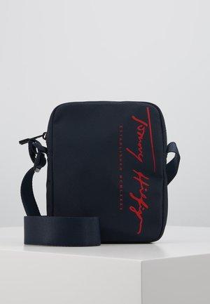 SIGNATURE MINI REPORTER - Across body bag - blue