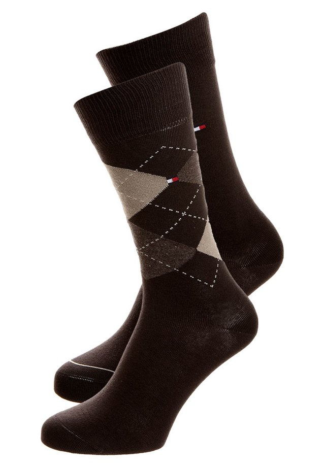 MEN SOCK CHECK 2 PACK - Strømper - kensington brown