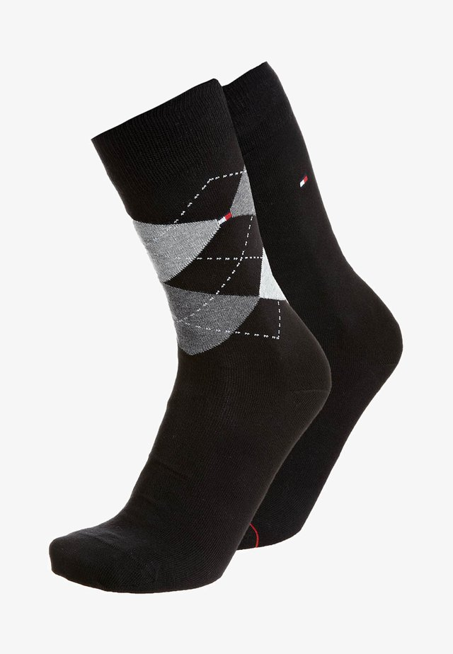 MEN SOCK CHECK 2 PACK - Socks - black