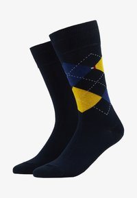 Tommy Hilfiger - MEN SOCK CHECK 2 PACK - Calcetines - blue/yellow - 1