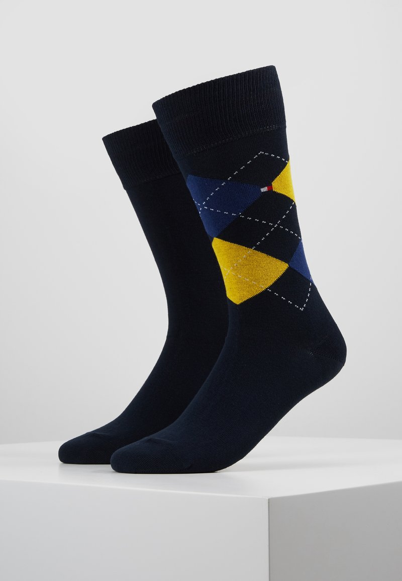 Tommy Hilfiger - MEN SOCK CHECK 2 PACK - Calcetines - blue/yellow