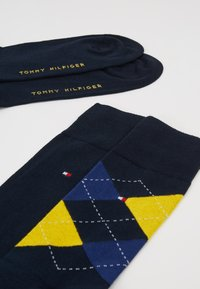 Tommy Hilfiger - MEN SOCK CHECK 2 PACK - Calcetines - blue/yellow - 2