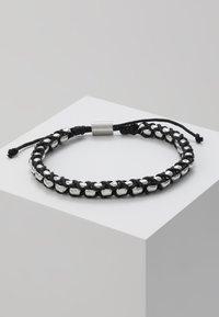 Tommy Hilfiger - BRACELET - Armband - silver-coloured/black - 0