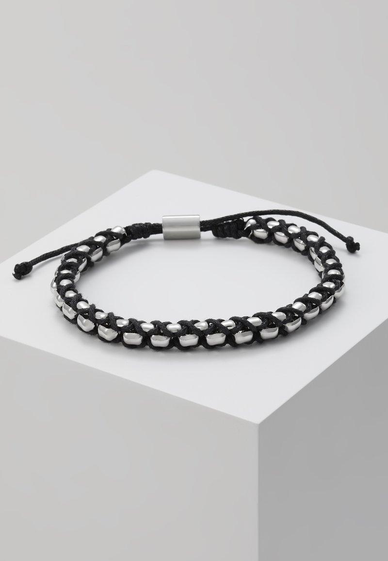 Tommy Hilfiger - BRACELET - Armband - silver-coloured/black