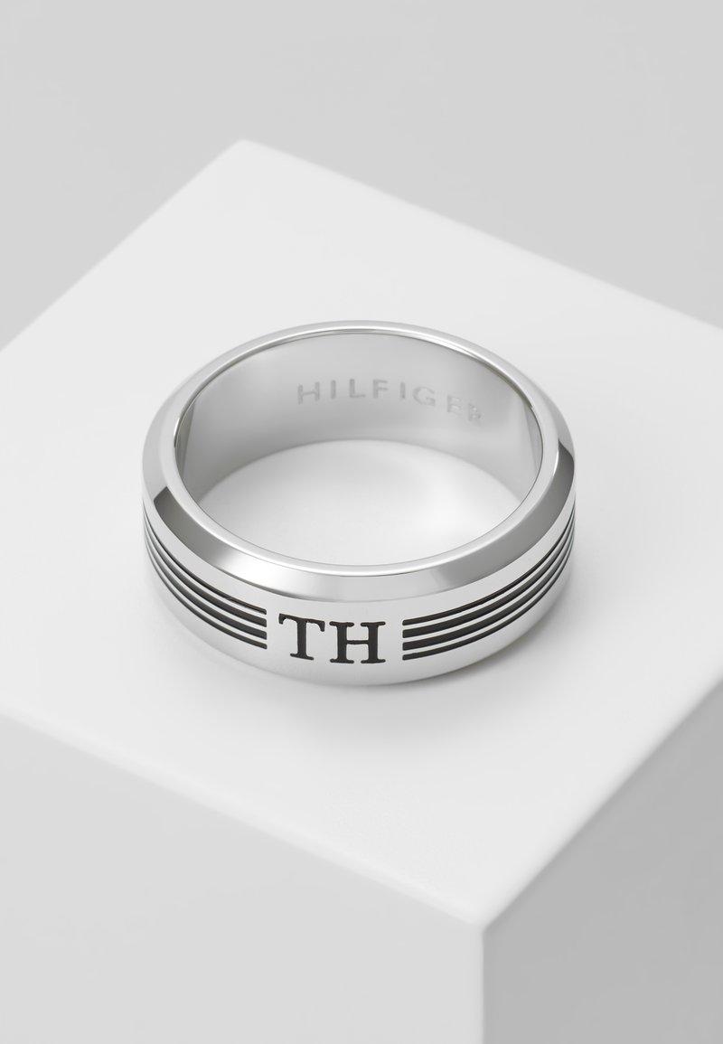 Tommy Hilfiger - DRESSED UP LOGO - Prsten - silver-coloured