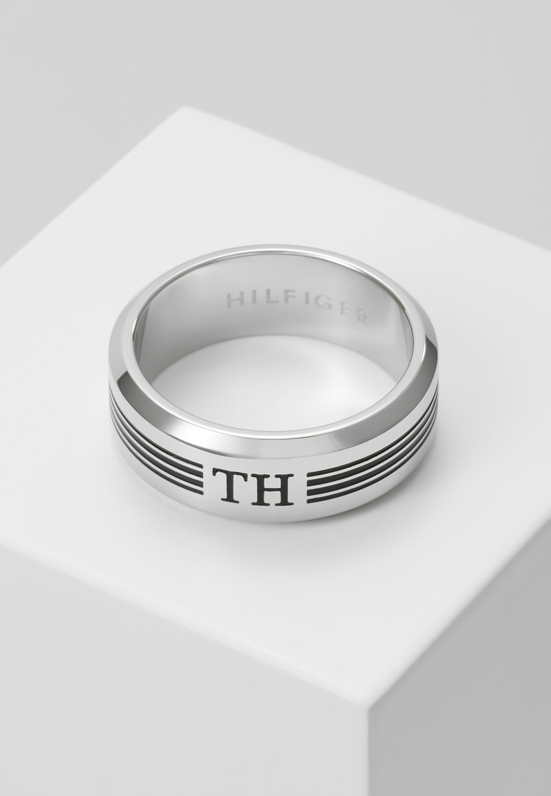 Tommy Hilfiger - DRESSED UP LOGO - Ring - silver-coloured