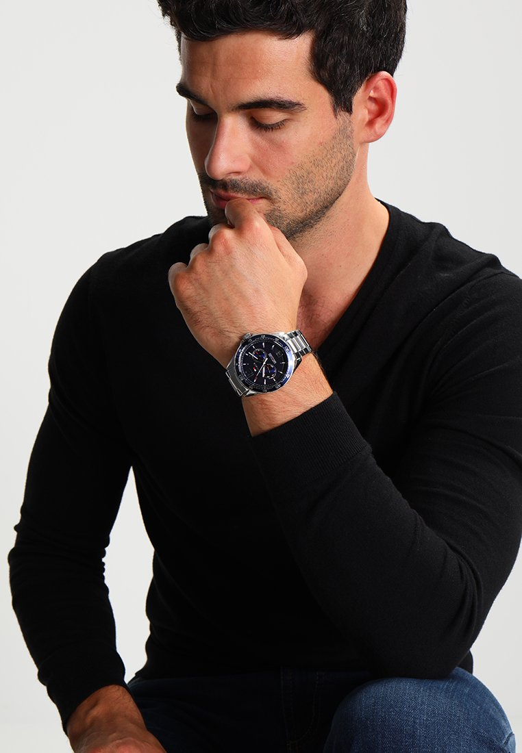 Tommy Hilfiger - Montre à aiguilles - silberfarben/blau