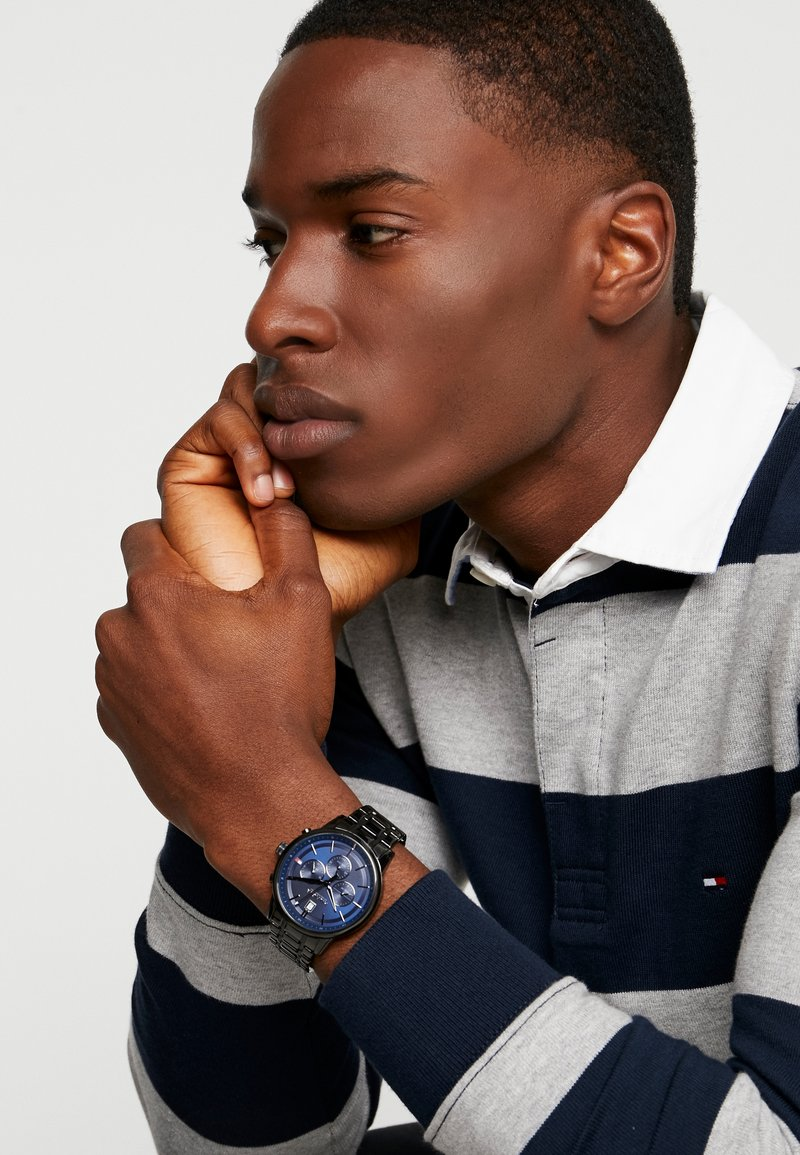 Tommy Hilfiger - CASUAL - Montre à aiguilles - black/blue